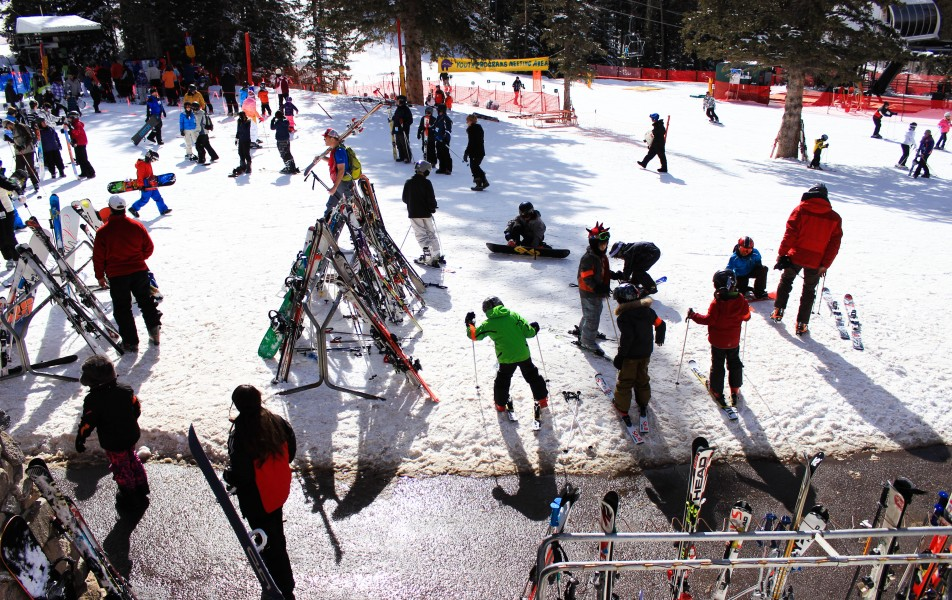 Ski Santa Fe was filled with people of all ages taking advantage of the perfect weekend weather.