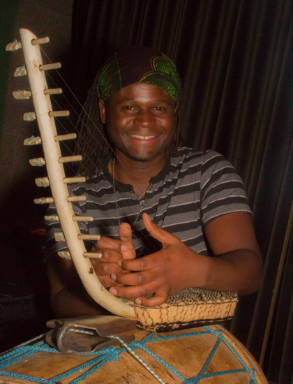 Peter With the Ndungu Harp