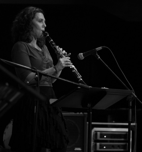 Deborah Unger, a SFUAD CMP faculty member, plays Clarinet and Accordion for Rumelia