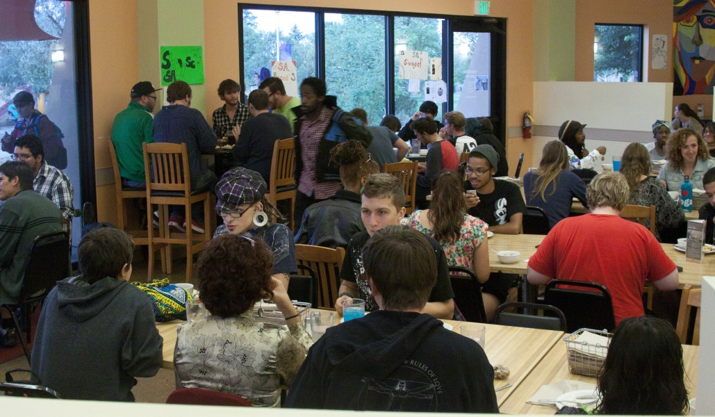 SFUAD seems, at moments, to be bustling with students. Photos by Tim Kassiotias