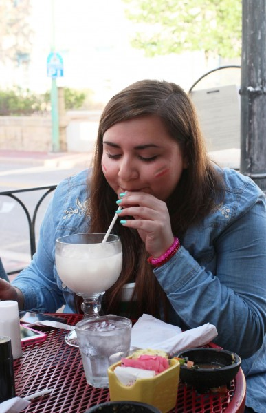 "María Villaseñor enjoyed drinking ""Agua de Horchata"" during dinner. This traditional beverage is very hard to find in countries outside Mexico."