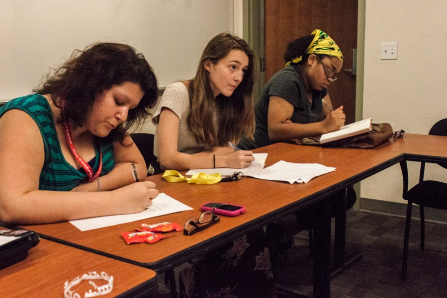 Freshmen members writing opening exercise. Photo by Chris Stahelin