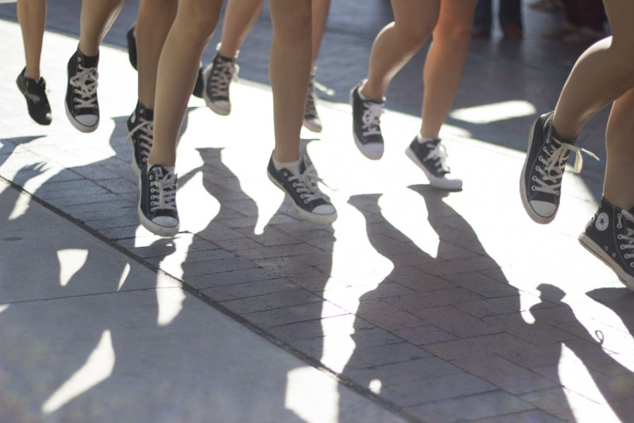 SFUAD dancers sported matching black canvas shoes. Photo by Amanda Tyler