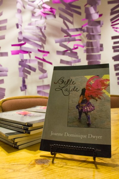 Dwyer's first book, Belle Laide, was released in May of this year. Photo by Shayla Blatchford.