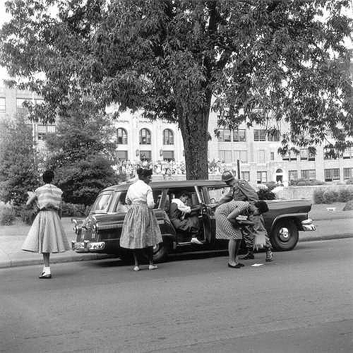 "Desegregation of Central High School by The ""Little Rock Nine"", Little Rock, 1956 Copyright Ernest C. Withers/Withers Trust"