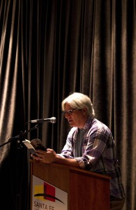 David Ulin reads at SFUAD's O'Shaughnessy Space. Photo by Sandra Schonenstein