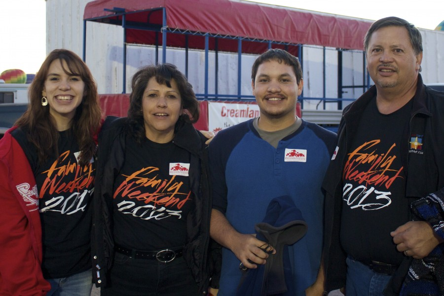 From left to right, Charlotte, Jeanette, Jesse and Edward Martinez