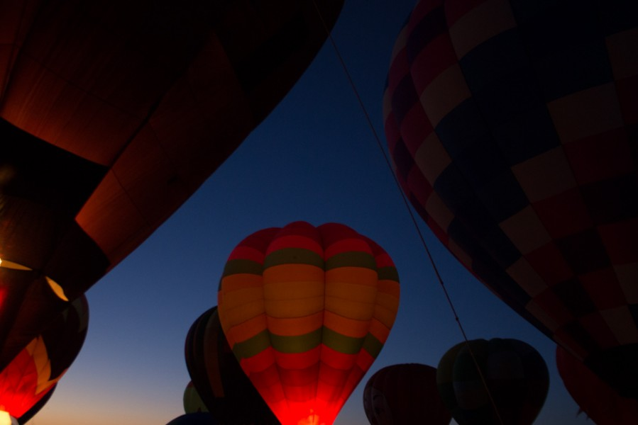Balloons begin to light up left and right. Photo by Amanda Tyler.