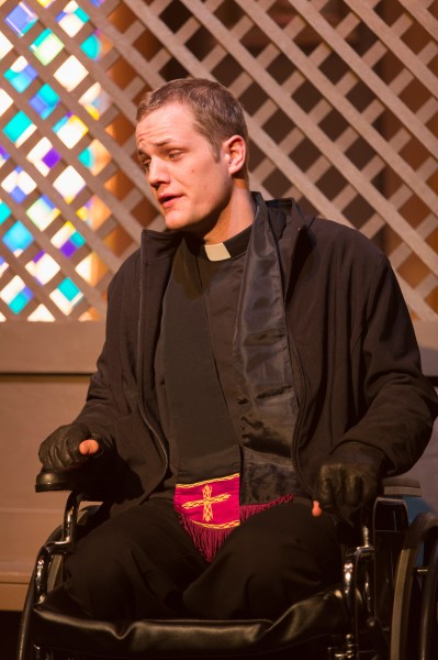 Mathew Eldridge as father Lux. Photo by Eric Swanson
