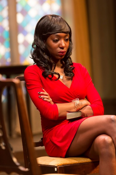 Porscha Shaw as Inez. Photo by Eric Swanson