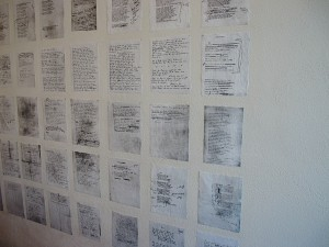 T.S. Eliot's drafts of 'The Wasteland' line the walls of Benildus room 102