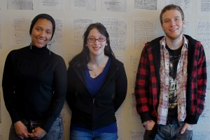 Creative Writing and Literature majors Jasmin Adams, Sky Schneider and Curtis Mueller are a part of SFUAD's December graduating class.
