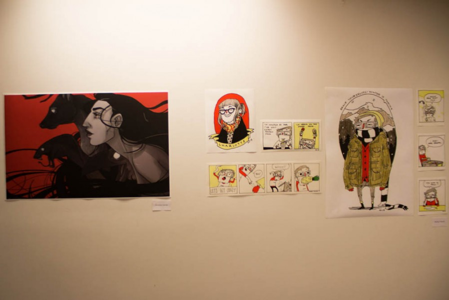 Artwork by Veronica Garcia and Shelby Criswell were a few of the pieces in the show.