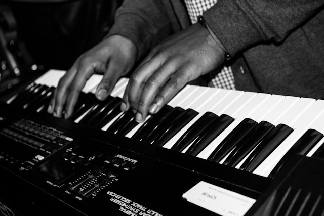 Darrell Luther on keys during practice