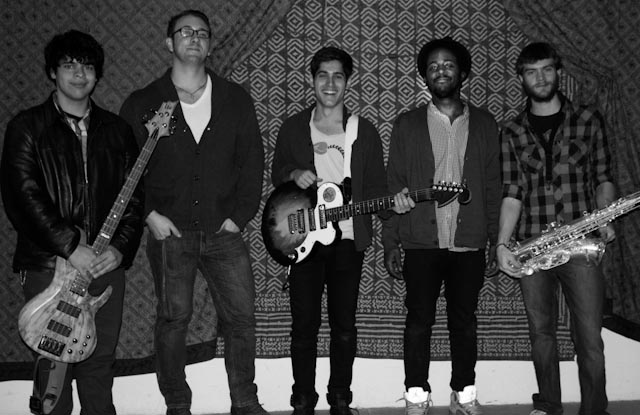 Ruder and the Shockwaves members: Nick Quintero, Marcus DiFillipo, Matt Ruder, Darrell Luther, Daniel Mench-Thurlow