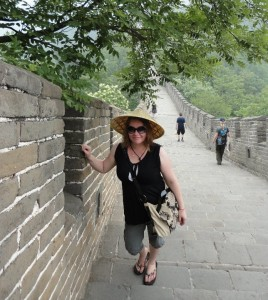Andrea Patterson in the Great Wall, China. Photo Courtesy of Patterson