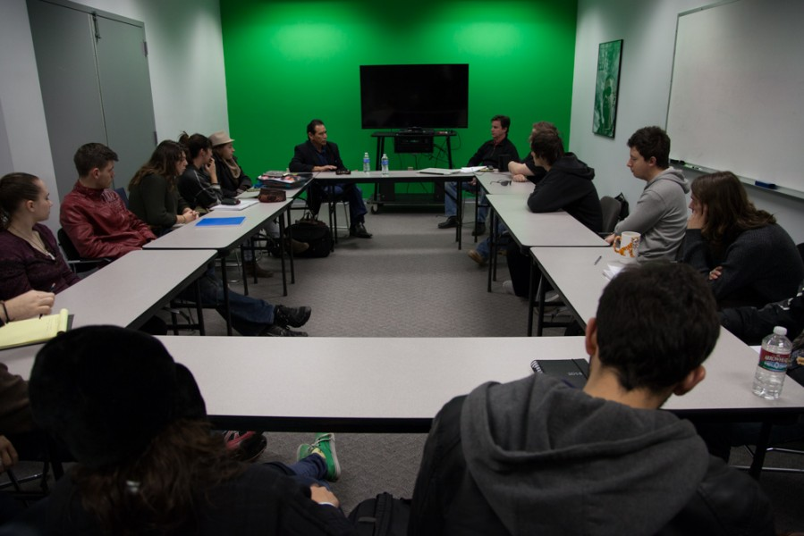 Studi visited the class on Feb. 5 and returned the following week to give some follow-up advice. Photo by Amanda Tyler