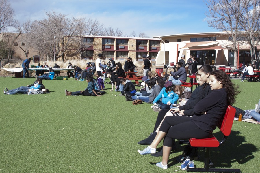 Students watch performers at the 41 Seconds event