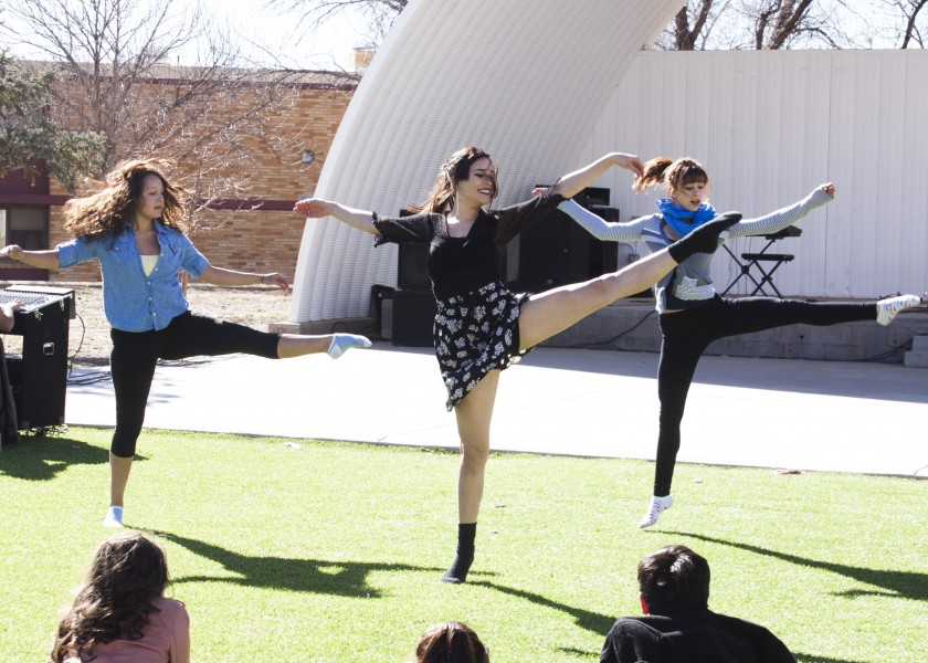 Alex Chavez, Stephanie Martinez and Marisa Melito performed a dance at 41 Seconds