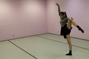 Chavez perfects her choreography.