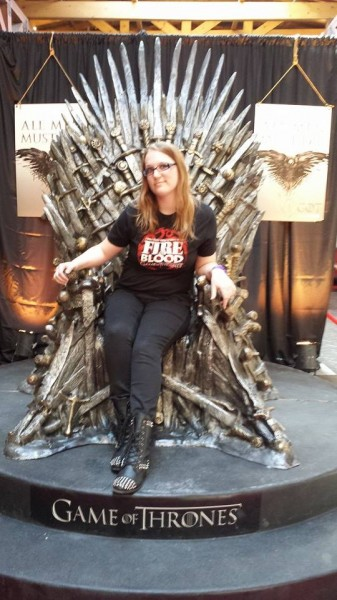 Amelia Wilson on the Iron Throne
