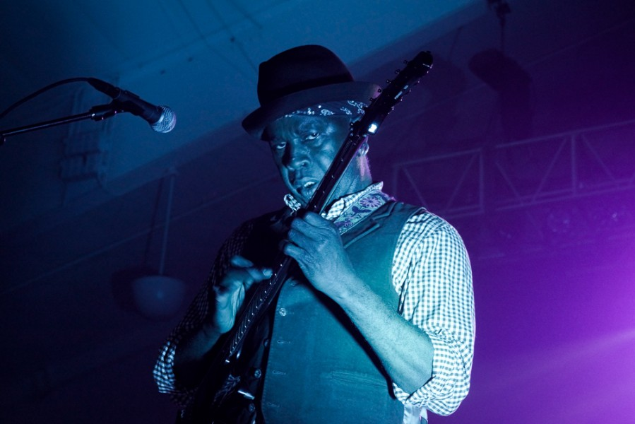 Guitarist for Living Colour, Vernon Reid.  Photo by Luke Montavon