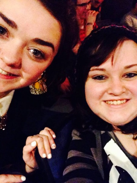 Schuyler Gilmore's selfie with Maisie Williams