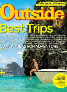 April 2014 cover of Outside Magazine.