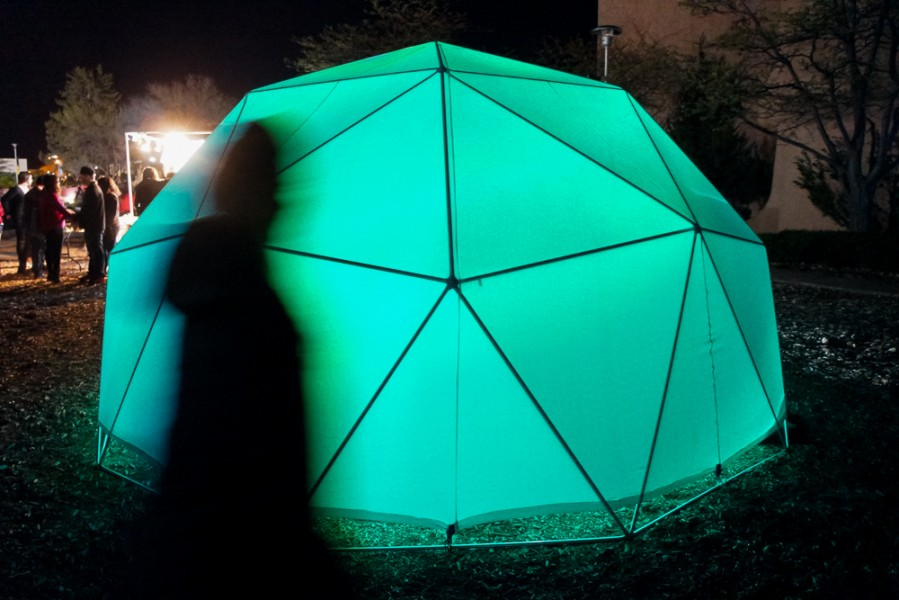 """DomeFest Dome"" by SFUAD in the OVF media class. Photo by Luke Montavon"