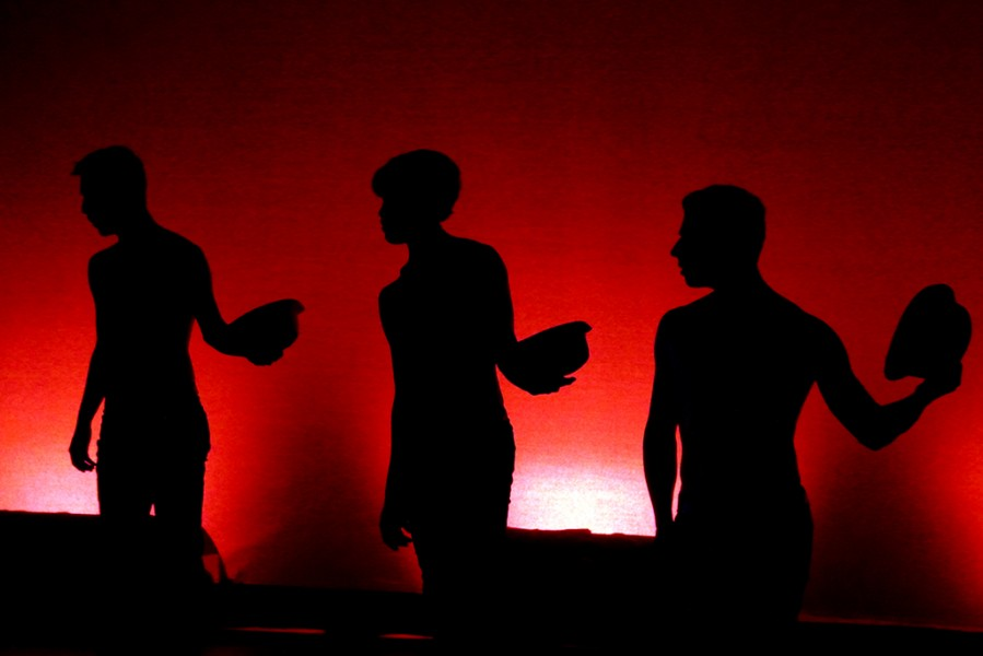 "Men in ""Friction"", choreographed by Maria Weckesser, featuring music by Tech N9ne. Photo by Luke Montavon"