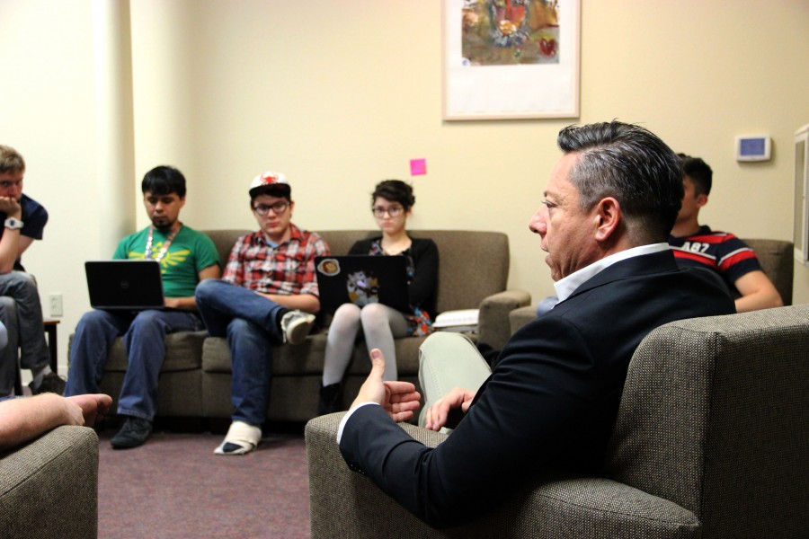 John Rodriguez and Student Voice held a forum in Kennedy Lounge