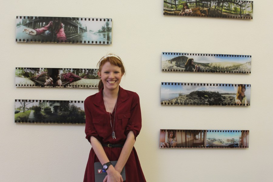 Grace Taylor with her thesis project
