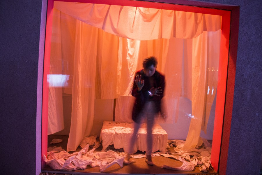 A performance art piece by Phat Le Throng. Photo by Bego Aznar