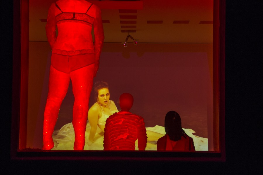 The red light district experience at home! Photo by Bego Aznar