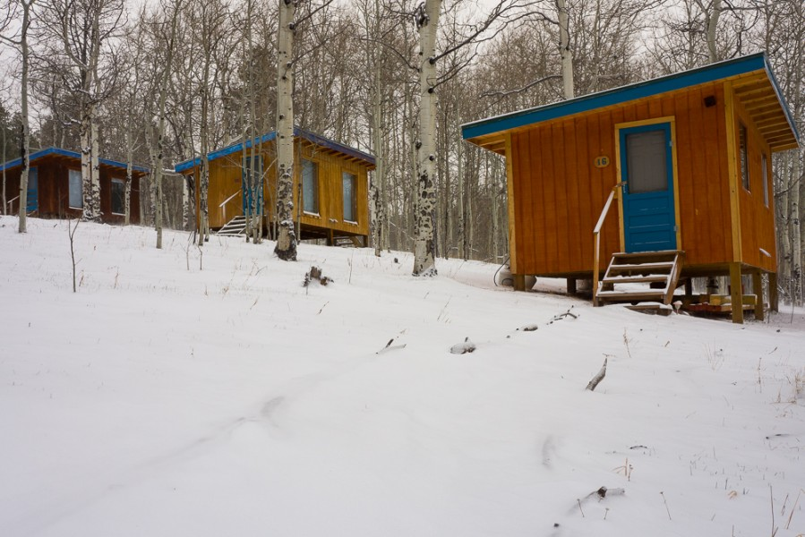 Students had the option to sleep in either a casita, yurt, or in Vallecitos main cabin. Photo by Luke Montavon