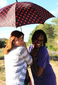 Since Bissi Ademulegun and Zoe Baillargeon started working on their project for the first time, they have had lots of fun. Photo by Sandra Schoenenstein