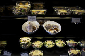 Healthy food options are also available at necessities.