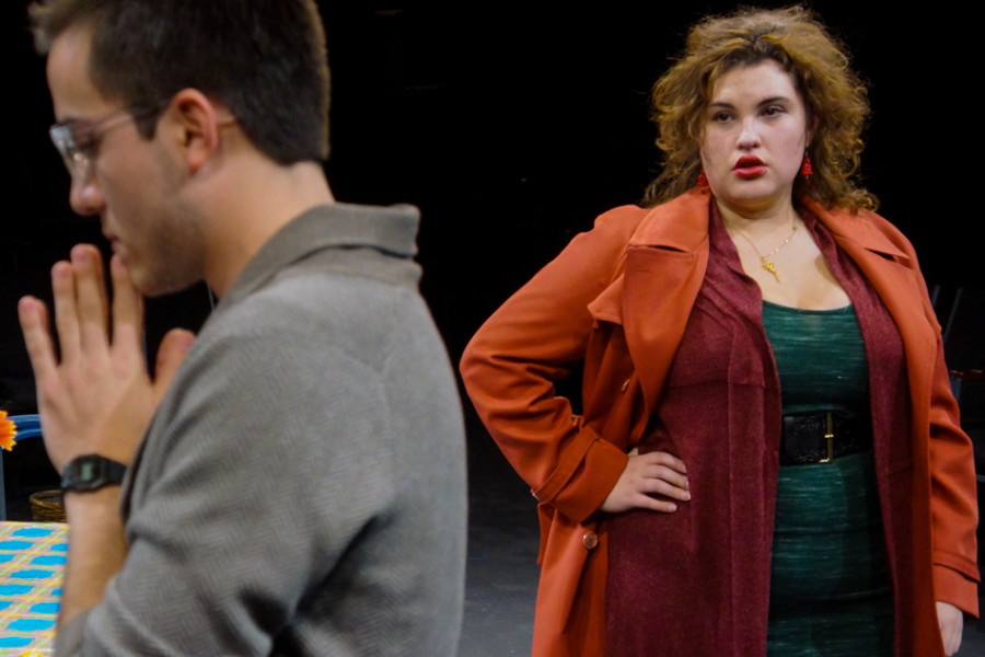From left, Rodrigo M. Zaragoza (Paul) & Chloe Torblaa Maggie in 'Den of Thieves' written by Stephen Adly Guirgis and directed by Jon Jory. Photo by Luke E. Montavon/The Jackalope