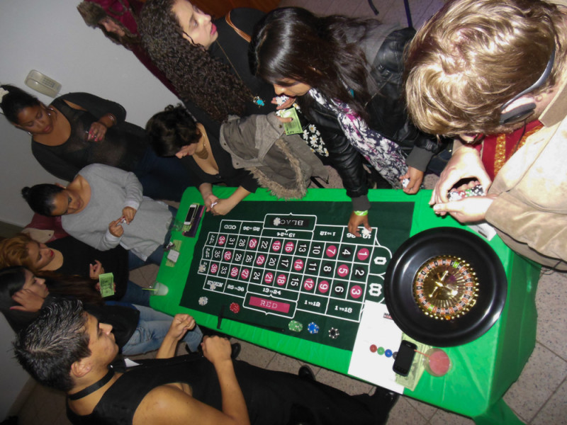 The roulette table heats up as the night goes on.