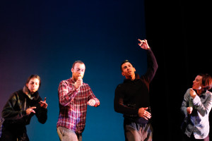 Miguel Perez, third from left, is a returning guest to the Santa Fe dance scene. Photo by Amanda Tyler