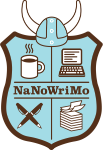 The NaNoWriMo shield. Image courtesy of National Novel Writing Month.