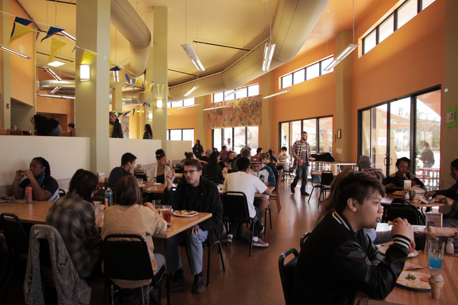 Santa Fe University of Art and Design at lunch time in the cafeteria. Photo by: Cydnie Smith-McCarthy