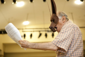 Harold Cherry rehearses Bottom's Dream. Photo by Genevieve Russell.