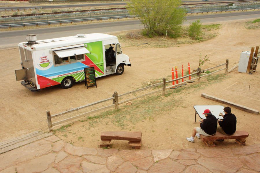 The Street Food Institute food truck outside of Santa Fe Brewing Company on April 16, 2015. Photo by Luke E. Montavon