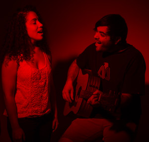 Madeline Bentley and Jordan Long singing beautifully together. Photo by Ashley Costello