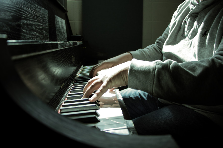 Since working at SFUAD, DeVillier hopes to learn piano. Photo by Cydnie Smith-McCarthy