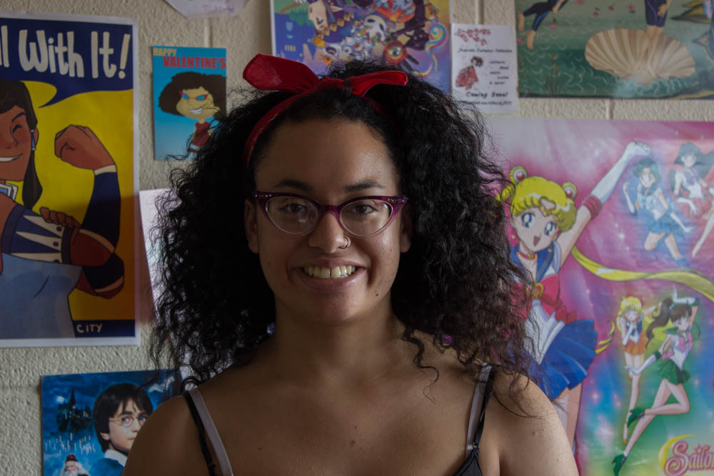 Chantelle Mitchell loves anime! Photo by Kyleigh Carter