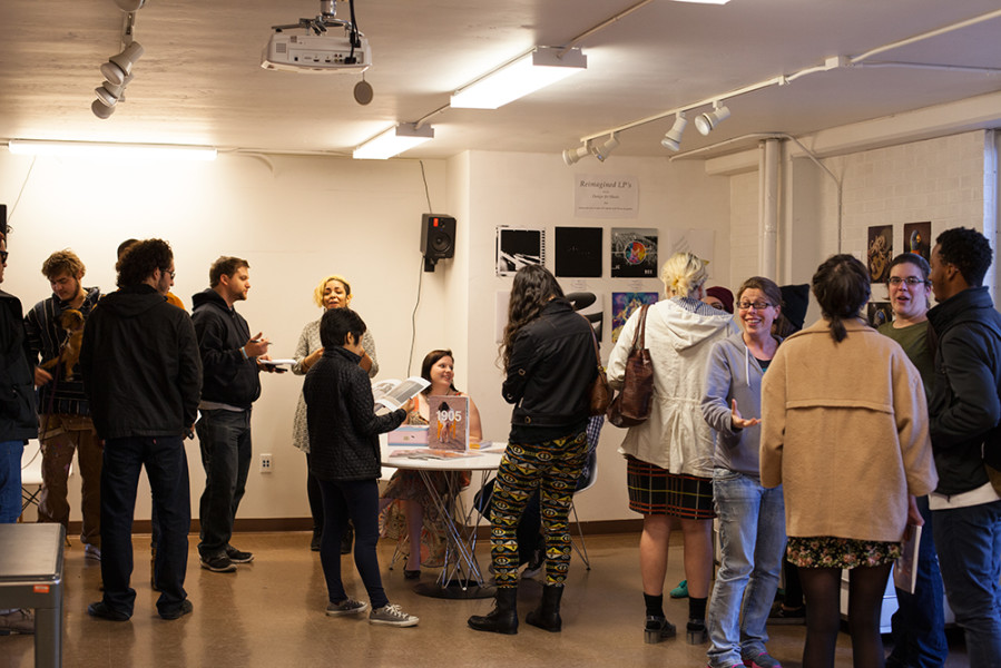 A lot of people showed up to the opening. Photo by René Bjorheim