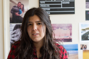 Brissa Piñera, a film student studying here from Mexico, is the director of Radost, a film about circus performers. © Ash Haywood