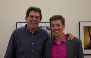 Chair of the Photography Department Tony O'Brien with Luke Montavon. Photo by Kyleigh Carter
